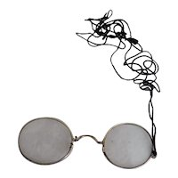 Antique Eyeglasses Pince Nez Case London