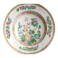 Chinese Export Famille Verte Rose Export Plate Indian Tree Pattern 18th Century