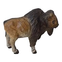 Vintage Carved Wood Buffalo