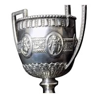 Indian Colonial Silver Trophy Cup Hindu Figures Marked GND&C