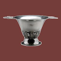 Sterling Silver Jensen Style Two-Handled Footed Punch Bowl / Centerpiece by Woodside Sterling Co.