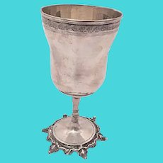 Continental Silver Goblet on a Stem