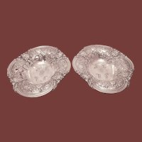 Gorham Sterling Silver Pair of Floral Centerpieces / Bowls from 1915