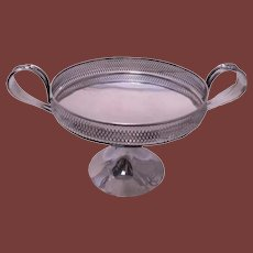 Frank Whiting Sterling Silver Galleried Tazza/Centerpiece Bowl