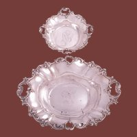 Pair of Wallace Sterling Silver Centerpieces/ Fruit Bowls