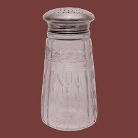 Sterling Silver and Glass Muffineer / Sugar Shaker