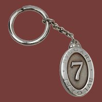 Bulgari Sterling Silver Lucky 7 Keychain