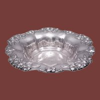 Black Starr & Frost Sterling Silver Centerpiece / Bowl With Repousse