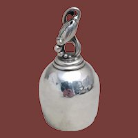 Georg Jensen Sterling Silver Dinner Bell / Centerpiece in Blossom Pattern