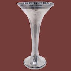 George V Silver Trumpet Vase