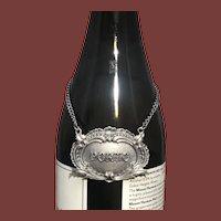 Buccellati Italian Sterling Silver Leaves Porto Claret Jug Label
