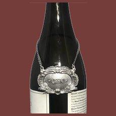 Buccellati Italian Sterling Silver Gin Ornate Claret Jug Label
