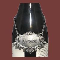 Buccellati Italian Sterling Silver Cognac Ornate Claret Jug Label