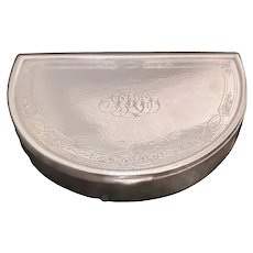 Gorham Hand Hammered Sterling Silver Jewelry Box in Crescent Shape