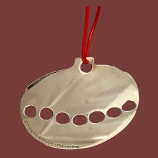 Christmas Apple Ornament in Sterling Silver by Linda Lee Johnson