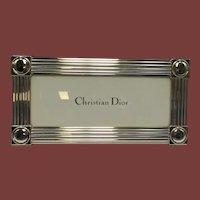 Christian Dior Sterling Silver Frame