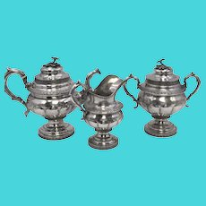 3-Piece Coin Silver Tea/Coffee Service by Stebbins