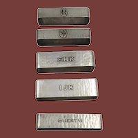 Set of 5 Sterling Silver Napkin Holders/Rings by Lebolt