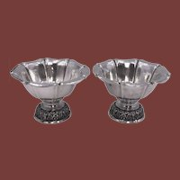 Pair of Continental Silver Centerpieces/ Bowls by W. Binder