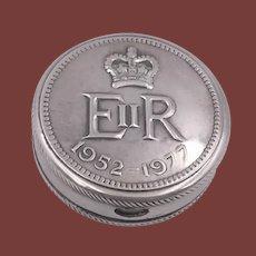 English Sterling Silver Box in Honor of Elizabeth II