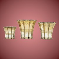 Group-of-Three-Danish-Art-Deco-sterling-silver-Margrethe-fluted-cups-graduated
