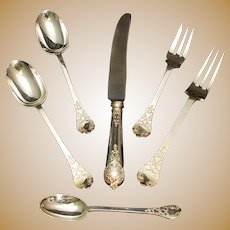 CJ VANDER STERLING SILVER FLATWARE SET