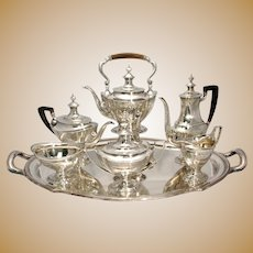 Tiffany & Co. 7 Pc. Sterling Silver Tea & Coffee Service With Matching Tray