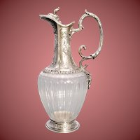 Cut Glass and Sterling Silver Mounted Claret Jug