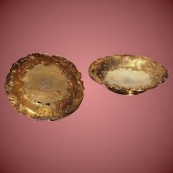 A PAIR OF FRENCH SILVER-GILT FOOTED DISHES Late 19th/early 20th,