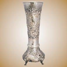 Continental Silver Vase