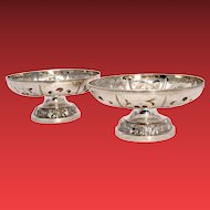 Pair of Georgian Silver Compotes
