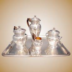 French Empire Style Silver Tea Set Boin-Taburet Paris