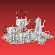 Ensko Georgian I Style Sterling Seven-Piece Tea Service