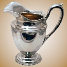 Sterling Silver Pitcher in Paul Revere Style