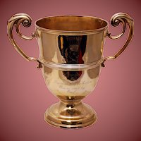 Early English Gilt Sterling Silver Two-Handled Presentation Cup