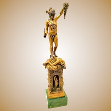 Solid Sterling Silver Perseus & Medusa Statue