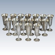 Set of Sixteen Frank Smith Sterling Silver Goblets