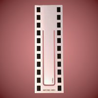 Cunill Cinema Bookmark SILVER