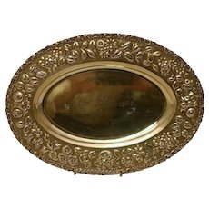 Silver Centerpiece in Oval Form Made by Stieff