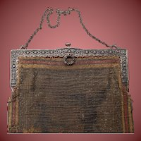 Silver Frame Beaded Handbag c. 1925