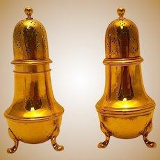 Tiffany & Co. Gilt Sterling Salt & Pepper Shakers