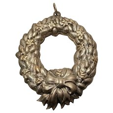 Buccellati Sterling Wreath Christmas Ornament 1991