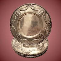 Silver Plates / Chargers Set of Eight