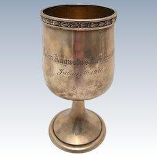 Durgin Sterling Silver Goblet