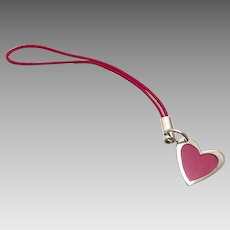 Cunill Fucshia Heart Shaped Sterling Purse Zipper Toggle