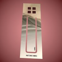 Silver Plated Fuchsia AM Studio Bookmark by Cunill