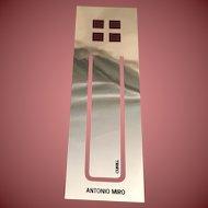 Silver Plated Fuchsia AM Studio Bookmark by Cunill
