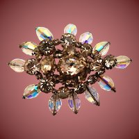 Diamond Costume Brooch by Erickson Beamon