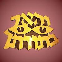 Vintage Judaic Brooch / Pendant Vhaer Eineinu