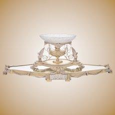 Silver Victorian Surtout De Table & Center Bowl by Elkington 1881